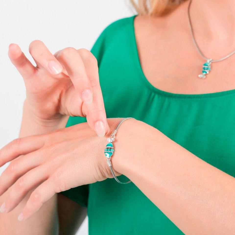 Bracelet Taraboum Argent Bleu Taratata Bijoux Fantaisie en ligne 2