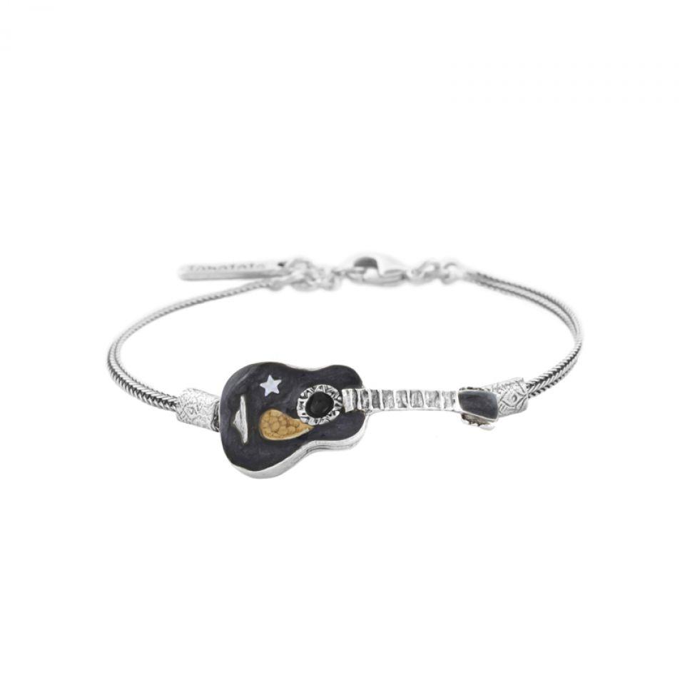 Bracelet Taraboum Argent Noir Taratata Bijoux Fantaisie en ligne 2