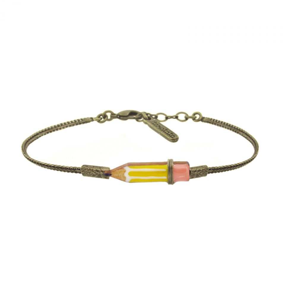 Bracelet Taraboum Bronze Jaune Taratata Bijoux Fantaisie en ligne 2