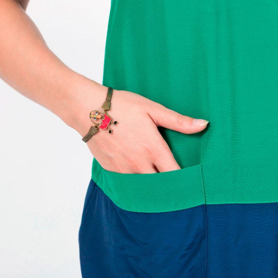 Bracelet Taraboum Bronze Rouge Taratata Bijoux Fantaisie en ligne 2