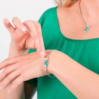 Bracelet Taraboum Argent Bleu