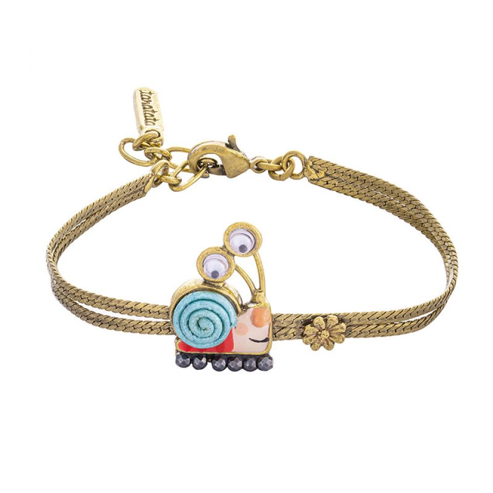 Bracelet Il Pleut Bronze Bleu Taratata Bijoux Fantaisie en ligne 1