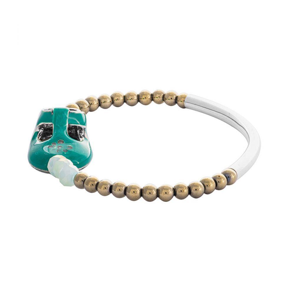 Bracelet Cannibalos Argente Vert Taratata Bijoux Fantaisie en ligne 3