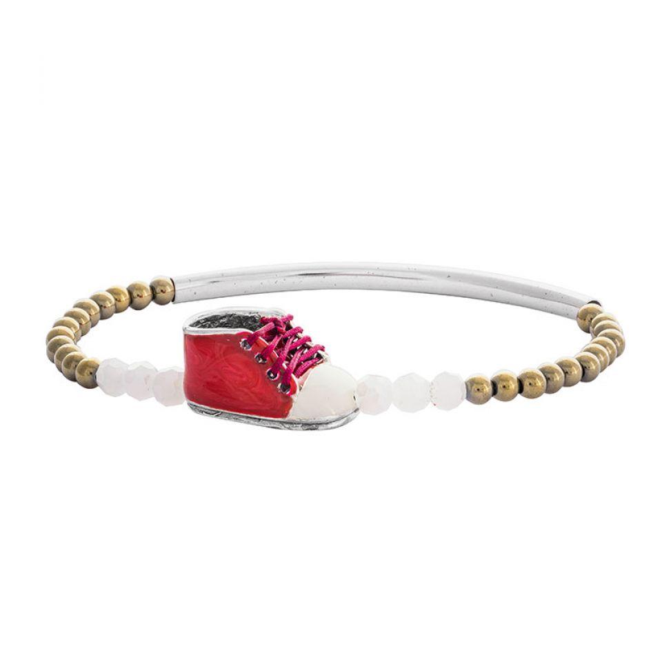 Bracelet Cannibalos Argente Rouge Taratata Bijoux Fantaisie en ligne 1