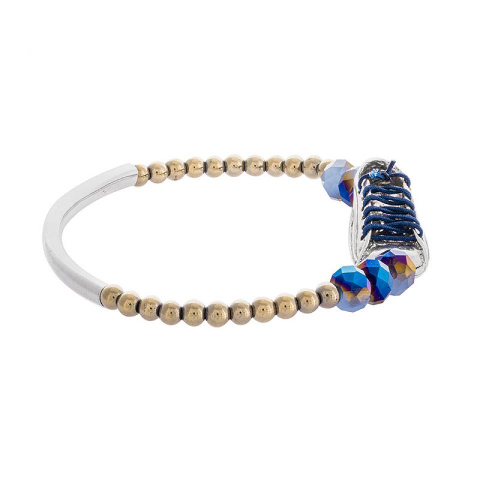 Bracelet Cours Toujours Argente Bleu Taratata Bijoux Fantaisie en ligne 3