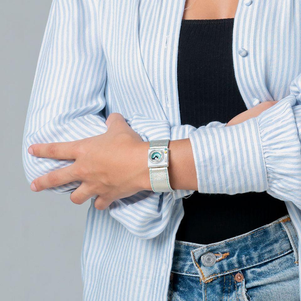 Bracelet Essorage Argente Blanc Taratata Bijoux Fantaisie en ligne 2