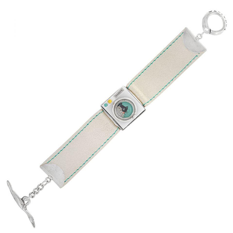 Bracelet Essorage Argente Blanc Taratata Bijoux Fantaisie en ligne 3