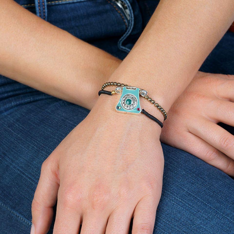 Bracelet Zero Six Couleur Argent Bleu Taratata Bijoux Fantaisie en ligne 2