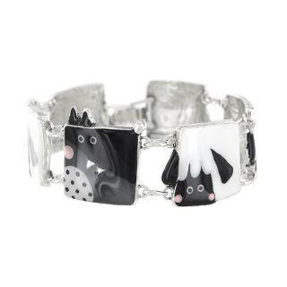 Bracelet Taraboum Argent Noir