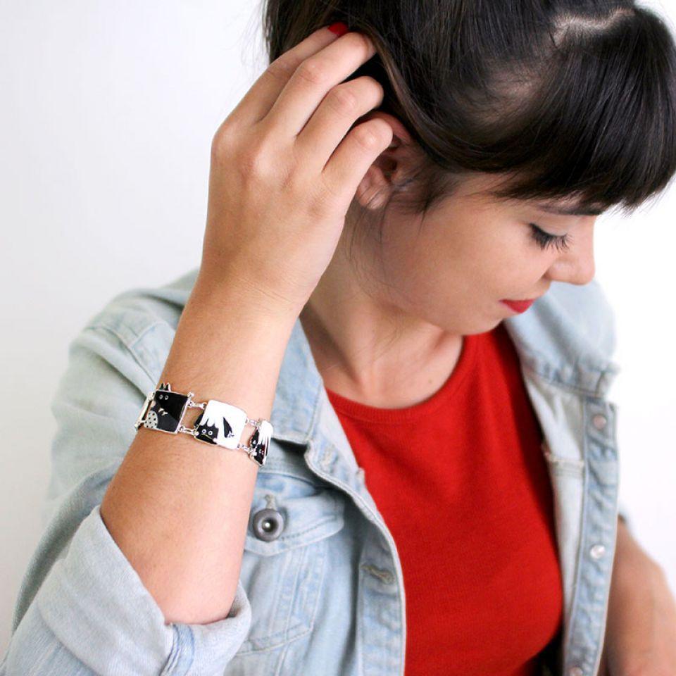 Bracelet Taraboum Argent Noir Taratata Bijoux Fantaisie en ligne 3