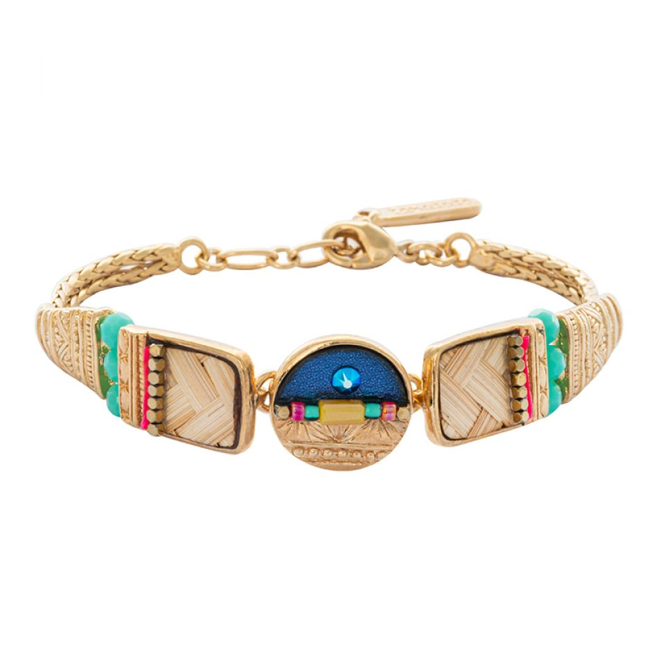 Bracelet Terre De Feu Dore Multi Taratata Bijoux Fantaisie en ligne 2