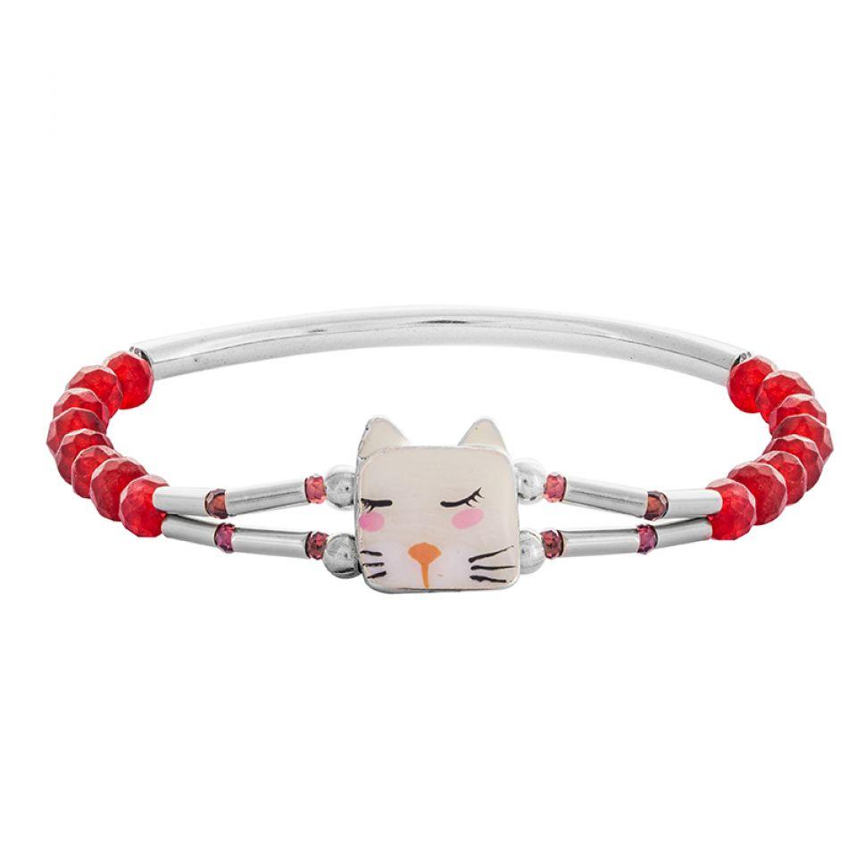 Bracelet Wake Up! Argente Rose Taratata Bijoux Fantaisie en ligne 1