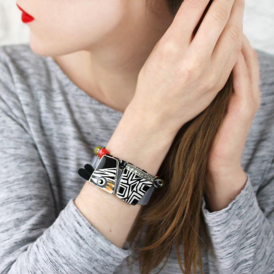 Bracelet Zanzibar Argent Multi Taratata Bijoux Fantaisie en ligne 2