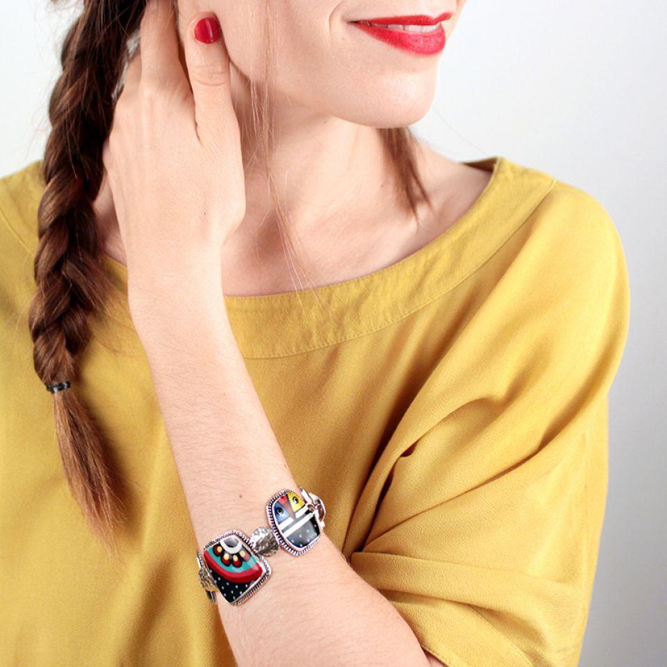 Bracelet Zazou Argent Multi Taratata Bijoux Fantaisie en ligne 4