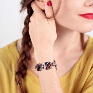 Bracelet Zazou Argent Multi