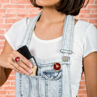 Broche Archi-chic Argent Rouge