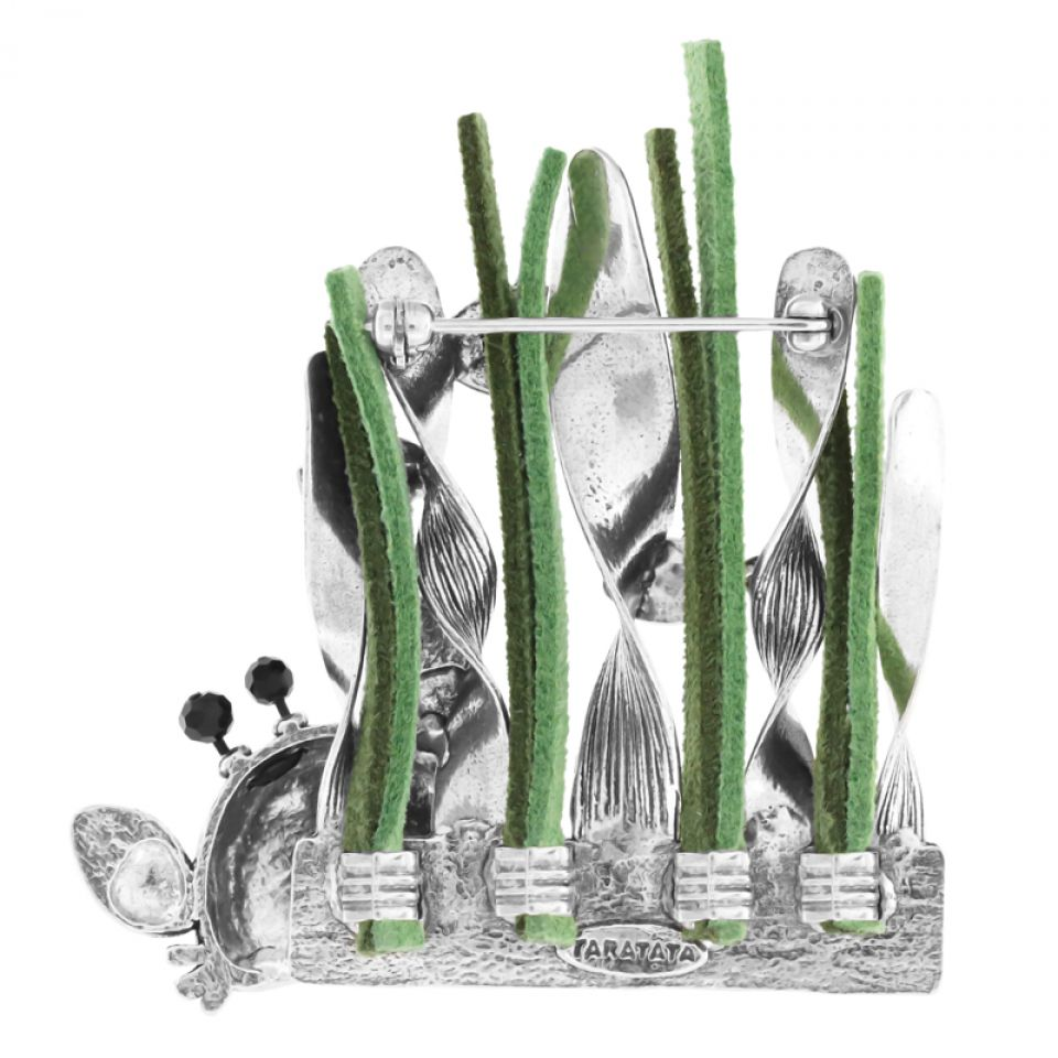 Broche Corail Argent Multi Taratata Bijoux Fantaisie en ligne 3