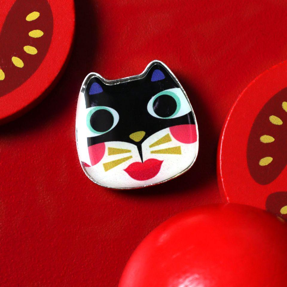 Broche Feline Couleur Argent Multi Taratata Bijoux Fantaisie en ligne 1