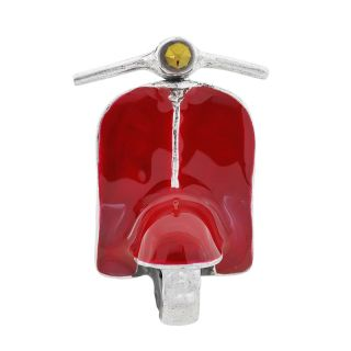 Broche Gina Argent Rouge