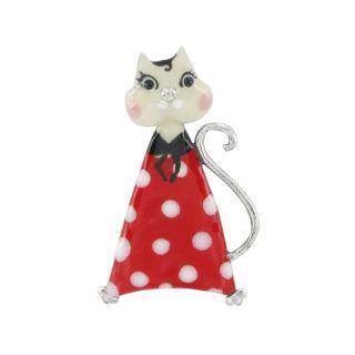 Broche Smart Cat Rouge
