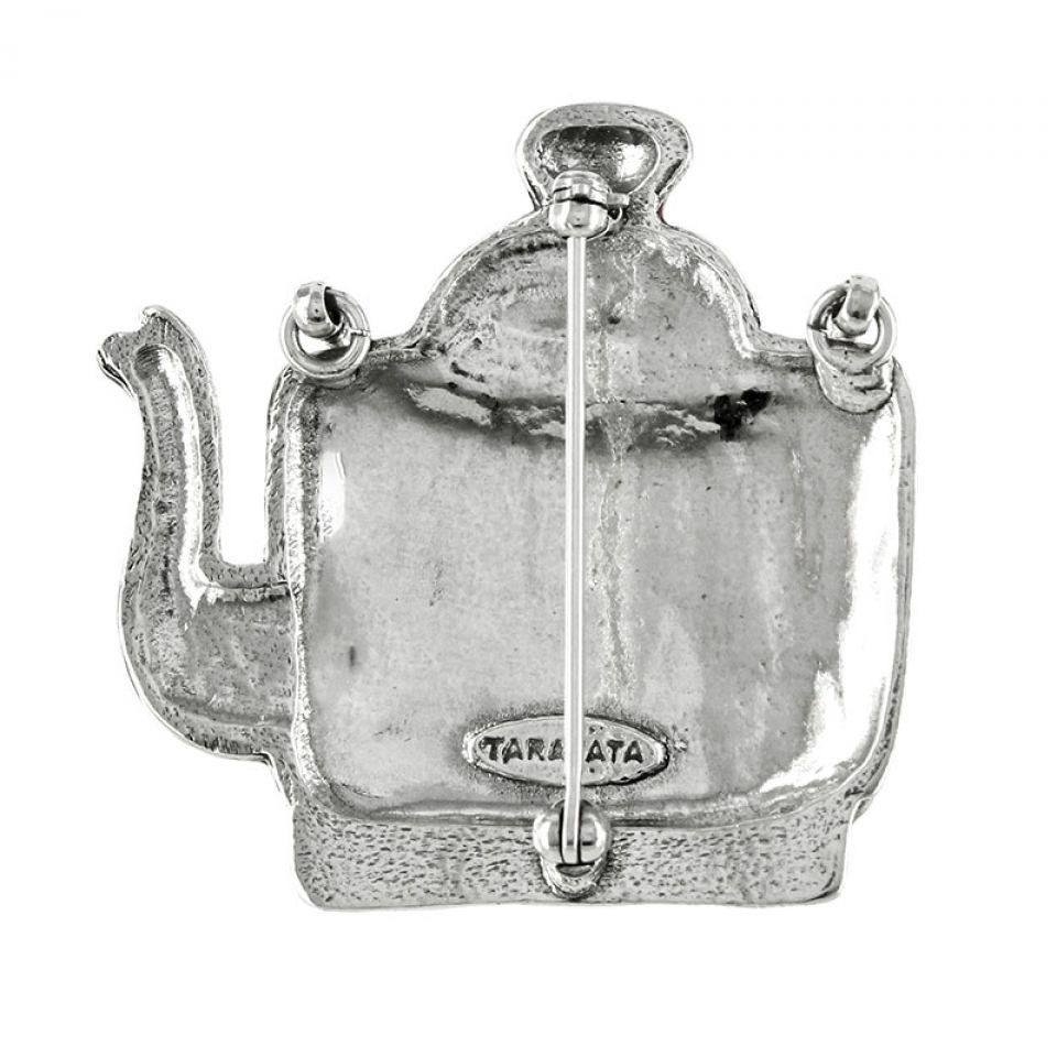 Broche Tea For Two Argent Multi Taratata Bijoux Fantaisie en ligne 3