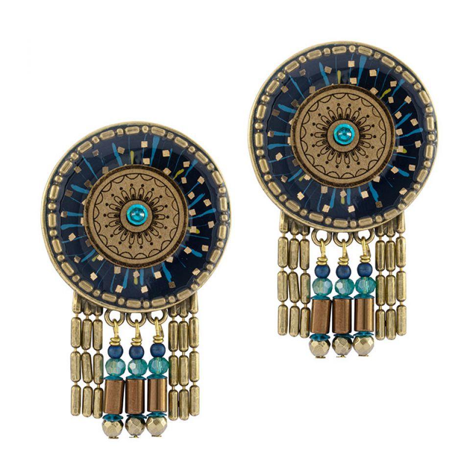 Clips Galaxie Couleur Bronze Bleu Taratata Bijoux Fantaisie en ligne 1