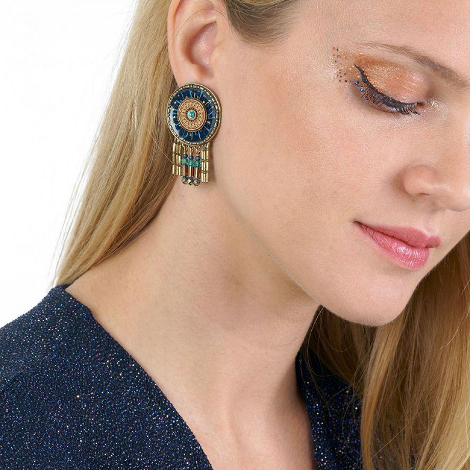Clips Galaxie Couleur Bronze Bleu Taratata Bijoux Fantaisie en ligne 2
