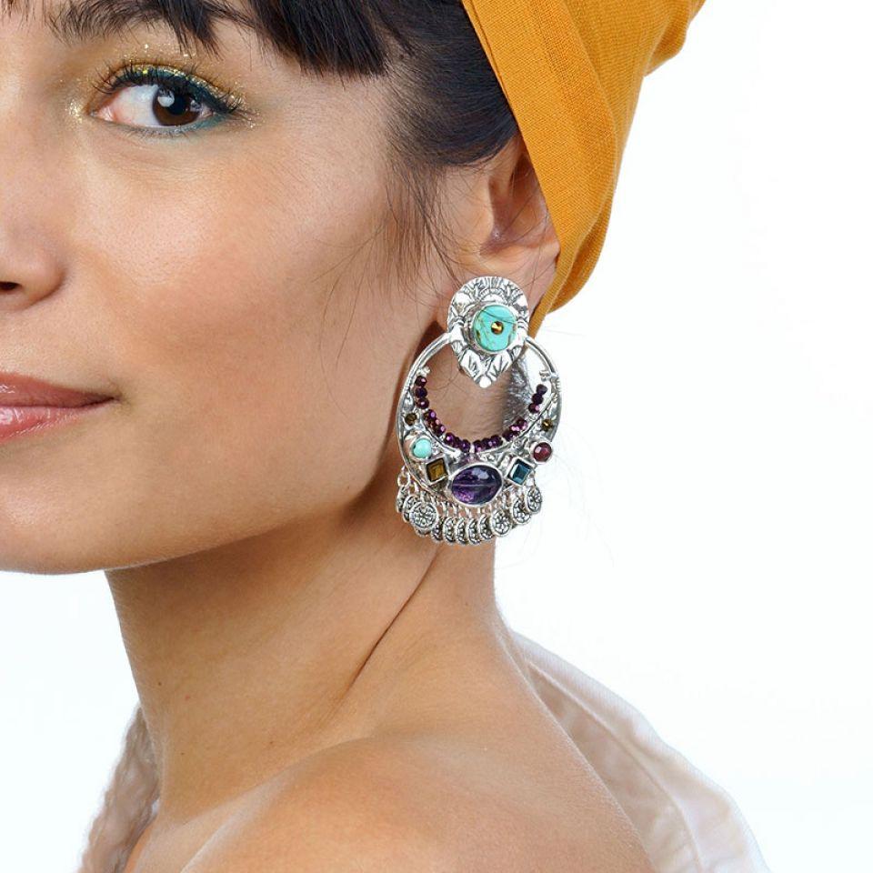 Clips Gange Couleur Argent Multi Taratata Bijoux Fantaisie en ligne 1