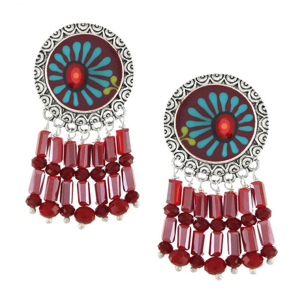 Clips Ruby Argent Rouge Taratata Bijoux Fantaisie en ligne 1