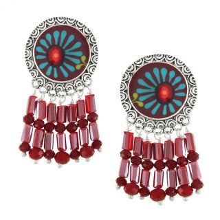 Clips Ruby Argent Rouge