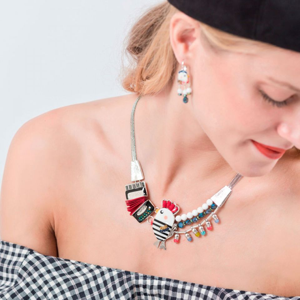 Collier Amoureuse Argent Multi Taratata Bijoux Fantaisie en ligne 1