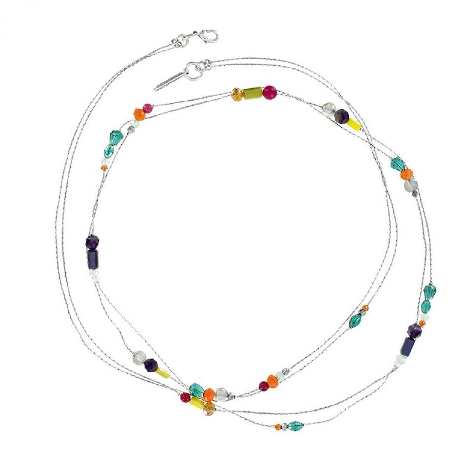 Collier Arabesque Argent Multi Taratata Bijoux Fantaisie en ligne 1