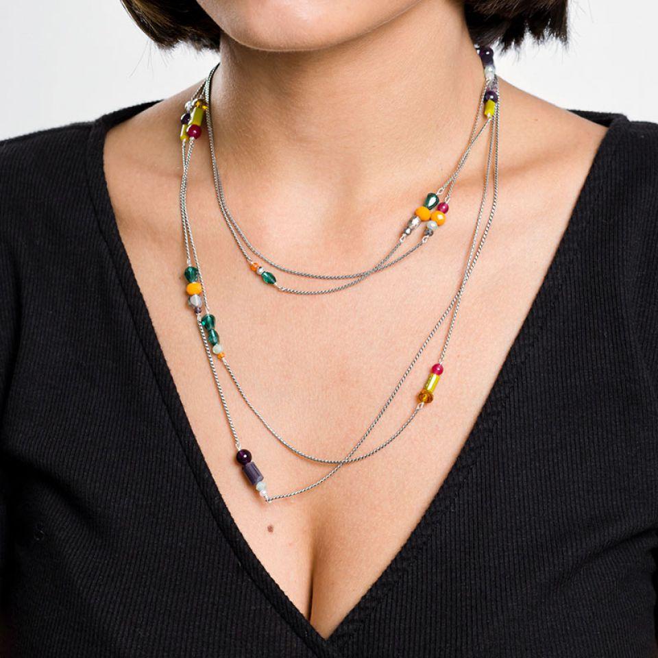 Collier Arabesque Argent Multi Taratata Bijoux Fantaisie en ligne 3