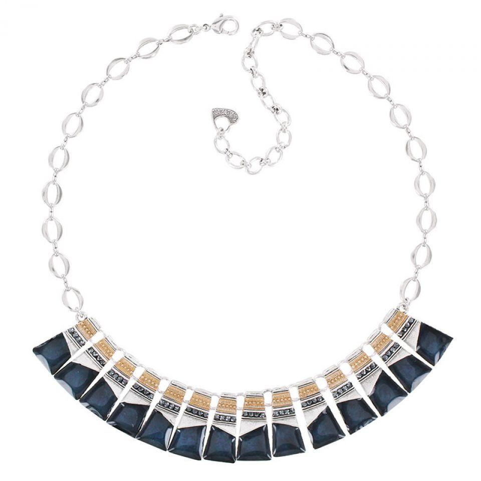 Collier Audrey Argent Bleu Taratata Bijoux Fantaisie en ligne 1