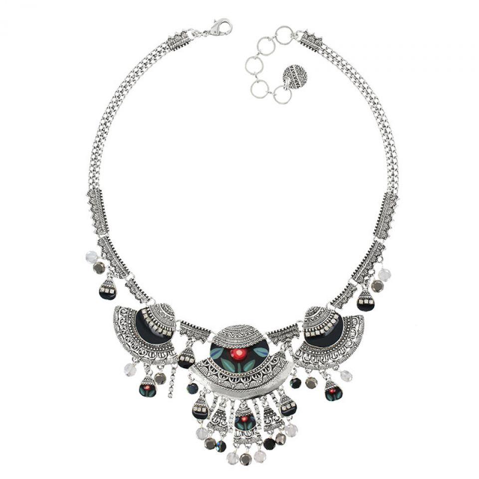 Collier Bergamote Argent Multi Taratata Bijoux Fantaisie en ligne 1