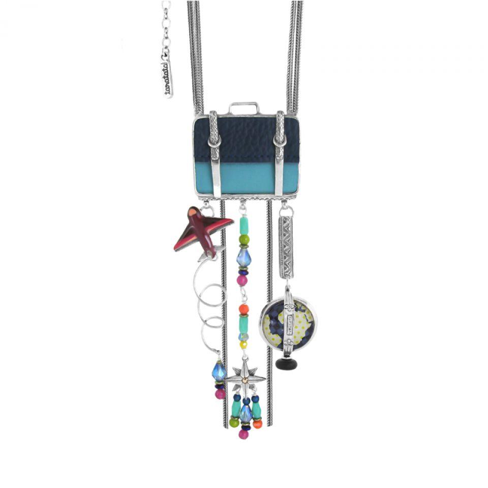 Collier Bon Voyage Argent Multi Taratata Bijoux Fantaisie en ligne 2