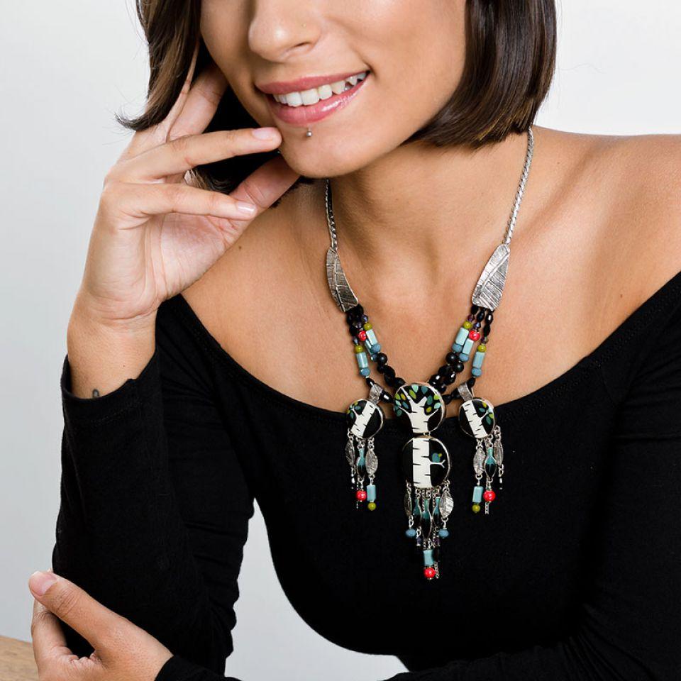 Collier Charme Argent Multi Taratata Bijoux Fantaisie en ligne 1