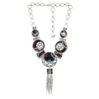 Collier Chinchilla Argent Multi