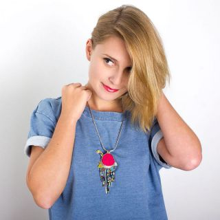 Collier Chloe Argent Multi