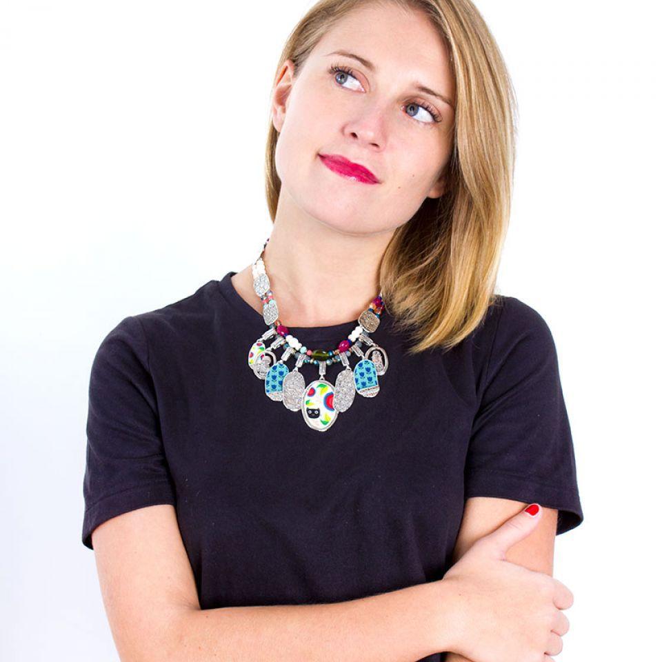 Collier Colette Argent Multi Taratata Bijoux Fantaisie en ligne 2