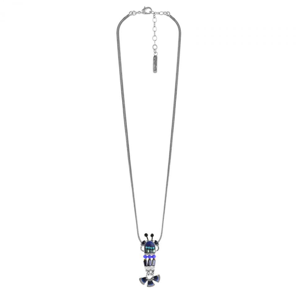 Collier Corail Argent Bleu Taratata Bijoux Fantaisie en ligne 4