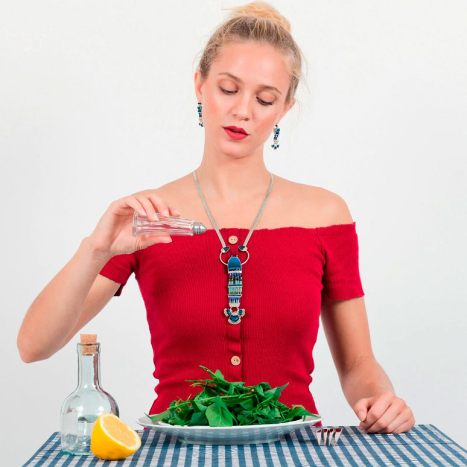 Collier Corail Argent Bleu Taratata Bijoux Fantaisie en ligne 1