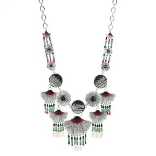 Collier Crocosmia Argent Multi