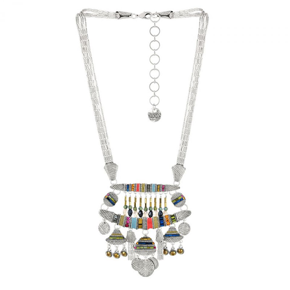 Collier Darling Argent Multi Taratata Bijoux Fantaisie en ligne 2