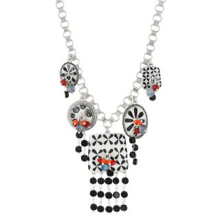 Collier Double Six Argent Multi