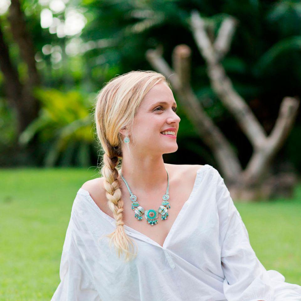 Collier Esperanza Argent Bleu Taratata Bijoux Fantaisie en ligne 2