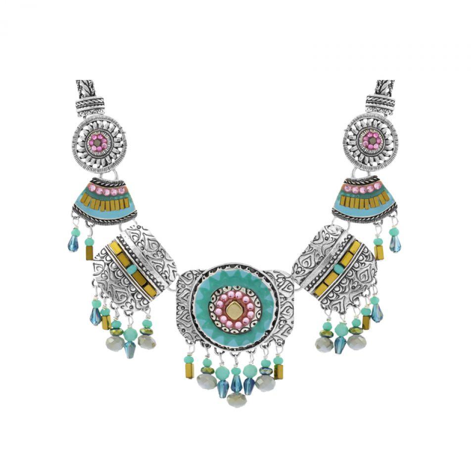 Collier Esperanza Argent Bleu Taratata Bijoux Fantaisie en ligne 3