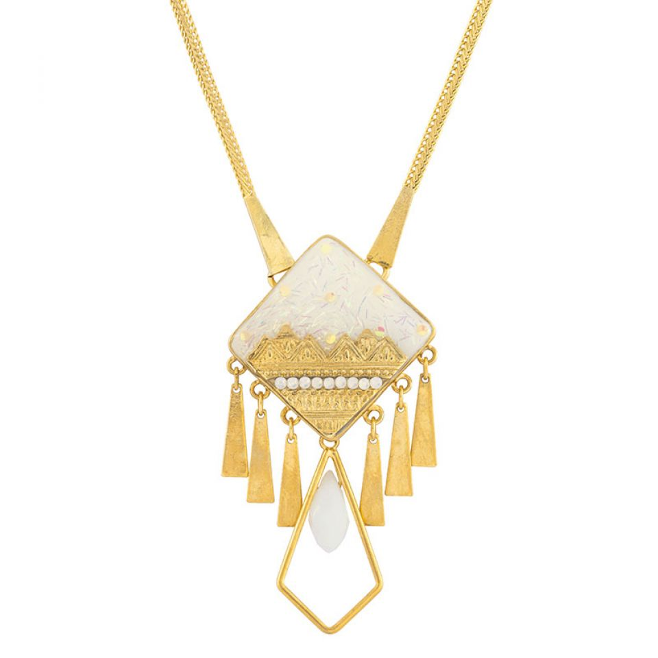 Collier Frisquet Couleur Or Blanc Taratata Bijoux Fantaisie en ligne 1
