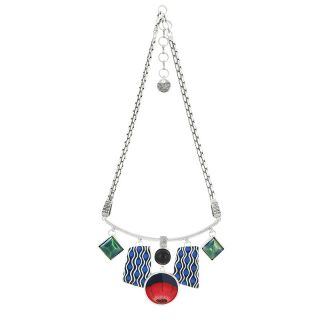 Collier Gombos Argent Multi