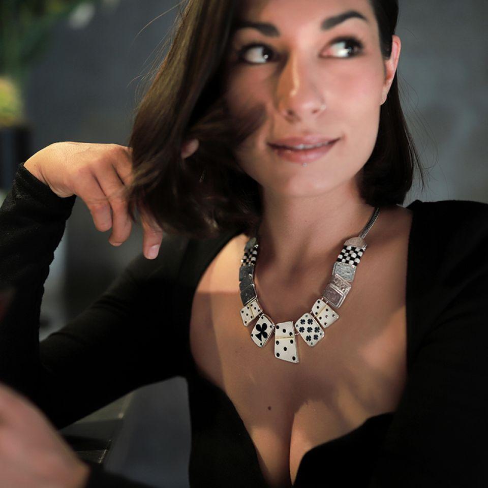 Collier L Impasse Argent Blanc Taratata Bijoux Fantaisie en ligne 2